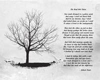 Robert Frost The Road Not Taken Fine Art Print