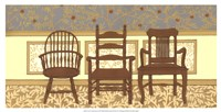 """Arts & Crafts Chairs I by Wendy Russell - 25"""" x 13"""""""