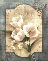 Marche Aux Fleurs Fine Art Print