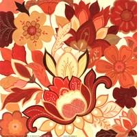 Vermillion Garden II Fine Art Print