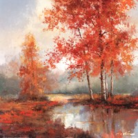"Autumn's Grace II by T.C. Chiu - 20"" x 20"""