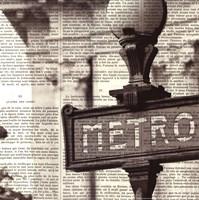 Metro I Crop Framed Print