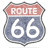 "Route 66 by LA Pop - 16"" x 16"" - $16.99"
