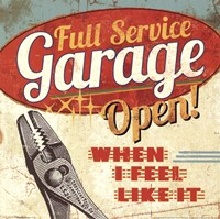 Mancave I - Full Service Garage Fine Art Print