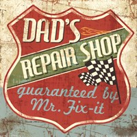 Mancave IV - Dads Repair Shop Fine Art Print