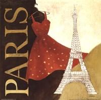 Paris Dress - A Day in the City Fine Art Print