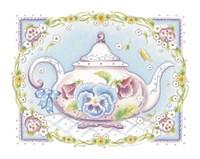 Pansy Teapot Fine Art Print