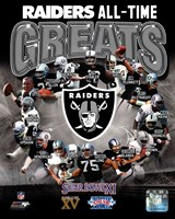 Oakland Raiders All Time Greats Composite Framed Print