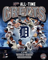 Detroit Tigers All Time Greats Composite Framed Print