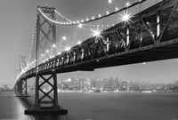 Bay Bridge At Night Fine Art Print