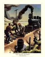 """Ten Pound Hammer by Thomas Hart Benton - 22"""" x 28"""""""
