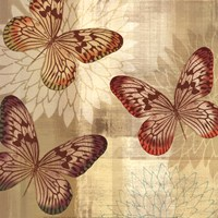 Tropical Butterflies I Fine Art Print