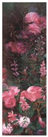 "Pink Azalea Garden I by Li Bo - 13"" x 37"""