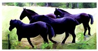 "Guilford Horses II by Robert Mc Clintock - 25"" x 13"""