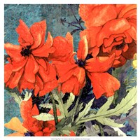 "Poppy Play I by R. Collier-Morales - 17"" x 17"""