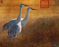 Walking Cranes Fine Art Print