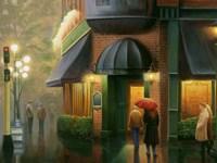 Rainy Day Pub Fine Art Print