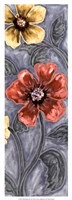 "Wild Poppies II by Karen Deans - 9"" x 25"", FulcrumGallery.com brand"