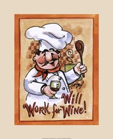 Will Work for Wine Fine Art Print