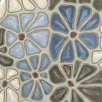 Tiled Petals I Fine Art Print