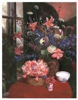 """Floral Still Life I by Li Bo - 23"""" x 29"""""""