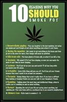 "10 Reasons to Smoke Pot - 24"" x 36"""