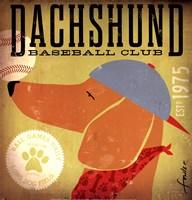Dachsund Baseball Fine Art Print