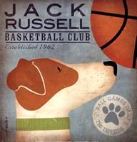 JackRussell Basketball Fine Art Print