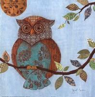 """Wise Owl II by s - 12"""" x 12"""""""