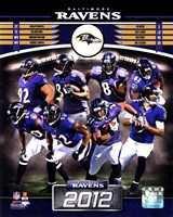 Baltimore Ravens 2012 Team Composite Framed Print