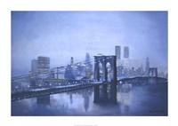 "Brooklyn Bridge by Diane Romanello - 34"" x 24"""