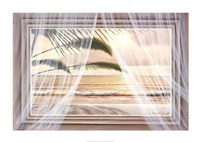 "Surf and Palm View by Diane Romanello - 34"" x 24"""