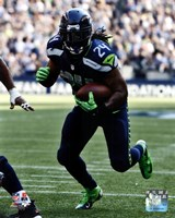 Marshawn Lynch 2012 with the ball Fine Art Print