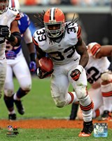 Trent Richardson On The Football Field Fine Art Print