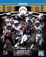 San Diego Chargers 2012 Team Composite Framed Print