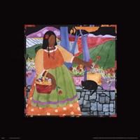 """Las Flores II by Julie Vance - 18"""" x 18"""""""
