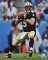Drew Brees Passing The Football Framed Print