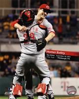 Homer Bailey No-Hitter September 28, 2012 Fine Art Print