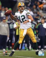 Aaron Rodgers 2012 Action shot Fine Art Print