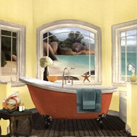 Oceanview II Yellow Fine Art Print