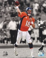 Peyton Manning 2012 Spotlight Action Framed Print