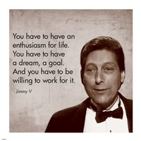 Enthusiasm for Life, Jimmy V Fine Art Print