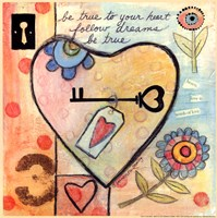 """True to Your Heart by Bernadette Deming - 12"""" x 12"""""""