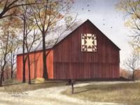 Amish Star Quilt Block Barn Fine Art Print