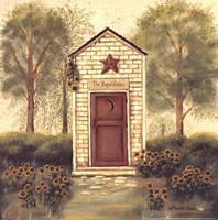 Folk Art Outhouse III Fine Art Print