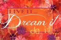 """Dream It by Marla Rae - 18"""" x 12"""""""