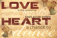 "Love Is... by Marla Rae - 18"" x 12"""
