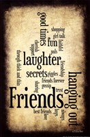 Friends I Framed Print