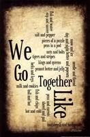 We Go Together Framed Print