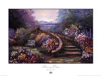 """Garden Stair by Sherry Chen - 24"""" x 18"""""""